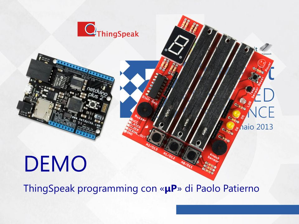 DEMO ThingSpeak programming con «μP» di Paolo Patierno