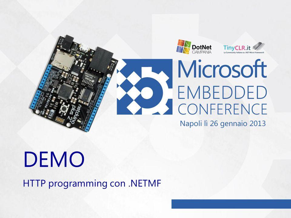 DEMO HTTP programming con.NETMF
