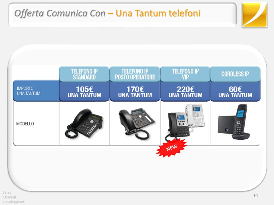 Sales Channel Development 10 Offerta Comunica Con – Una Tantum telefoni NEW
