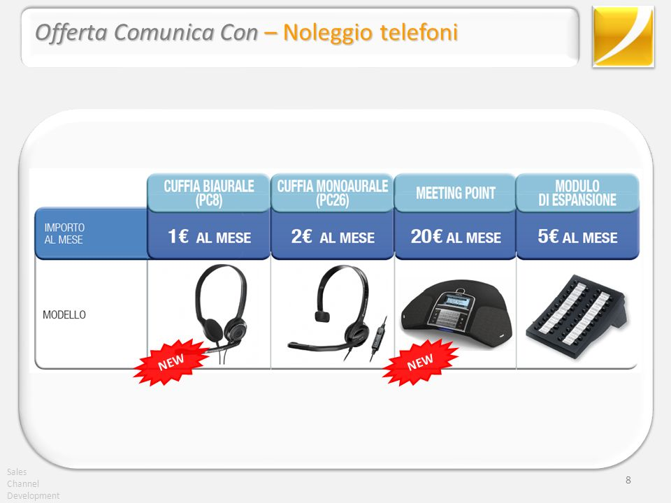 Sales Channel Development 8 Offerta Comunica Con – Noleggio telefoni NEW