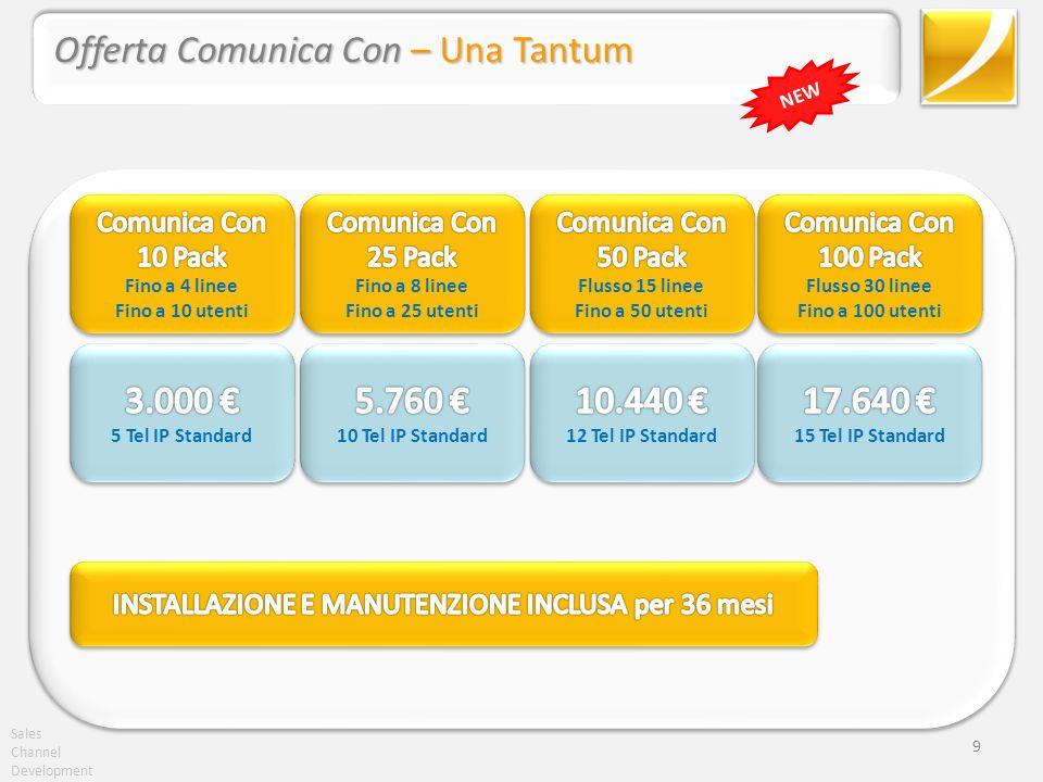 Sales Channel Development 10 Offerta Comunica Con – Una Tantum telefoni NEW