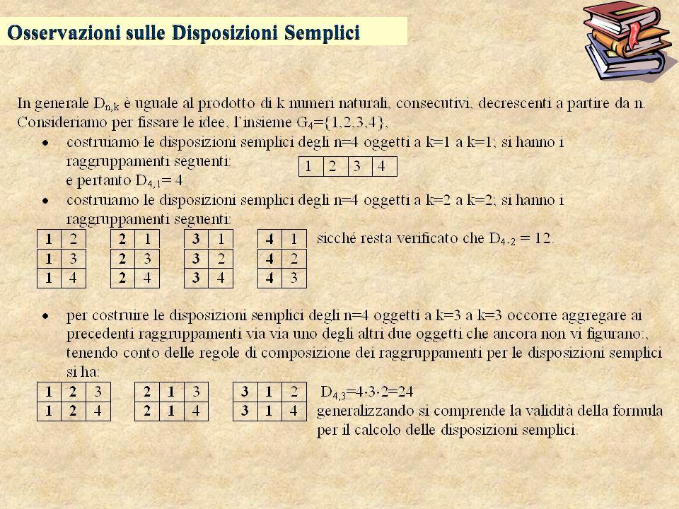 Osservazioni sulle Disposizioni Semplici