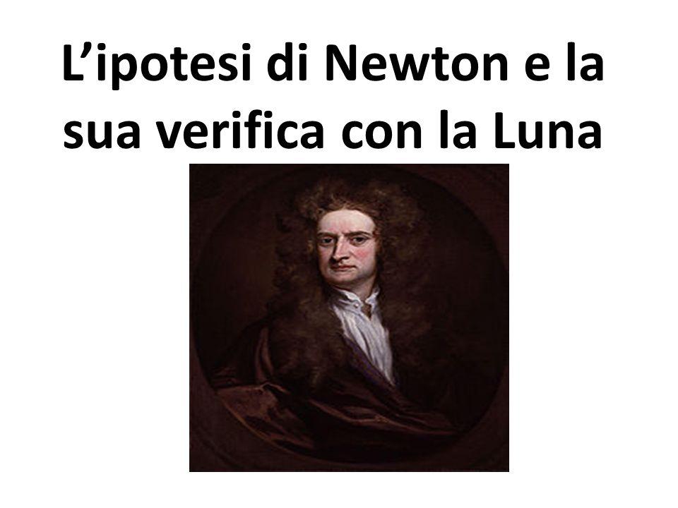 Lipotesi di Newton e la sua verifica con la Luna