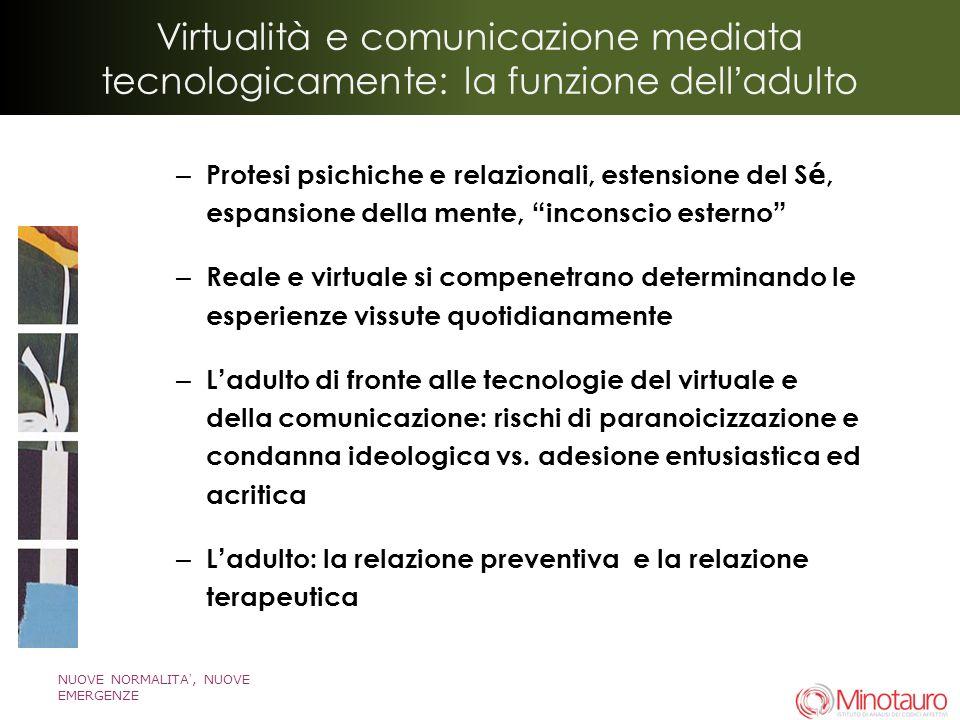 Virtualità e comunicazione mediata tecnologicamente: la funzione delladulto – Protesi psichiche e relazionali, estensione del S é, espansione della me