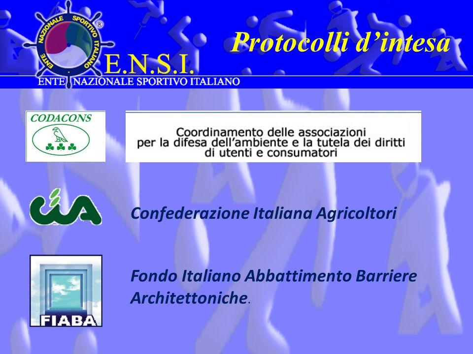 Protocolli dintesa Confederazione Italiana Agricoltori Fondo Italiano Abbattimento Barriere Architettoniche.