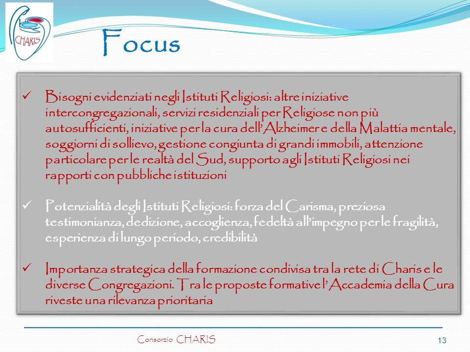 Focus Bisogni evidenziati negli Istituti Religiosi: altre iniziative intercongregazionali, servizi residenziali per Religiose non più autosufficienti,