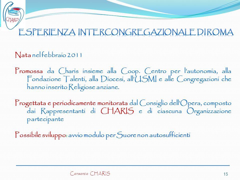 Nata nel febbraio 2011 Promossa da Charis insieme alla Coop. Centro per lautonomia, alla Fondazione Talenti, alla Diocesi, allUSMI e alle Congregazion