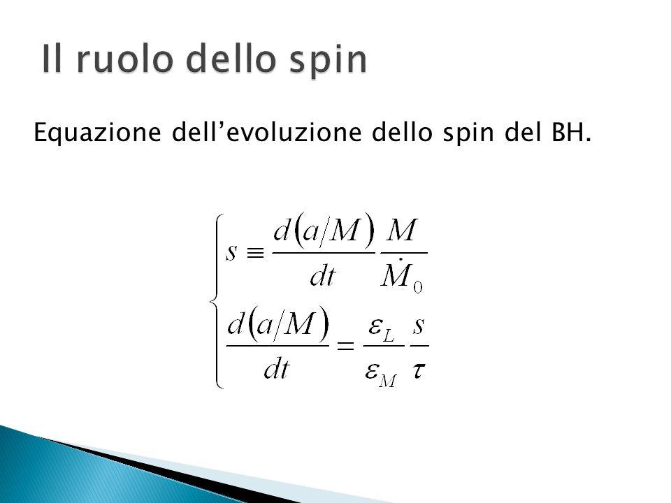 Equazione dellevoluzione dello spin del BH.