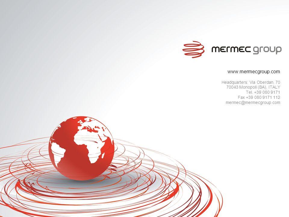 www.mermecgroup.com Headquarters: Via Oberdan, 70 70043 Monopoli (BA), ITALY Tel. +39 080 9171 Fax +39 080 9171 112 mermec@mermecgroup.com