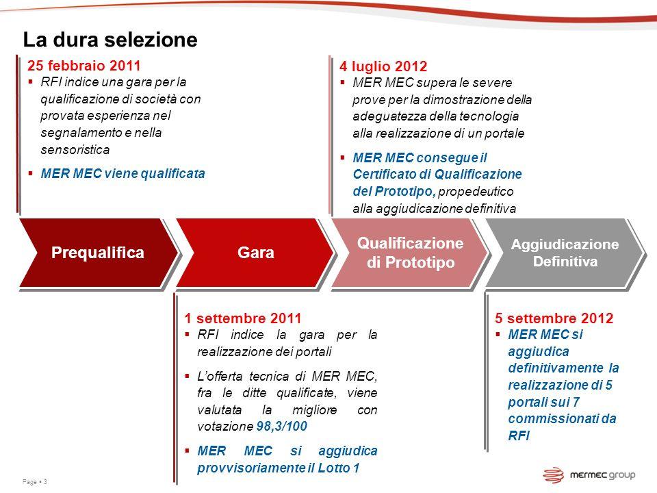 La dura selezione Prequalifica 25 febbraio 2011 RFI indice una gara per la qualificazione di società con provata esperienza nel segnalamento e nella s