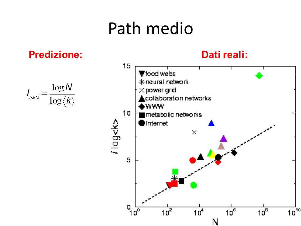 Predizione:Dati reali: Path medio