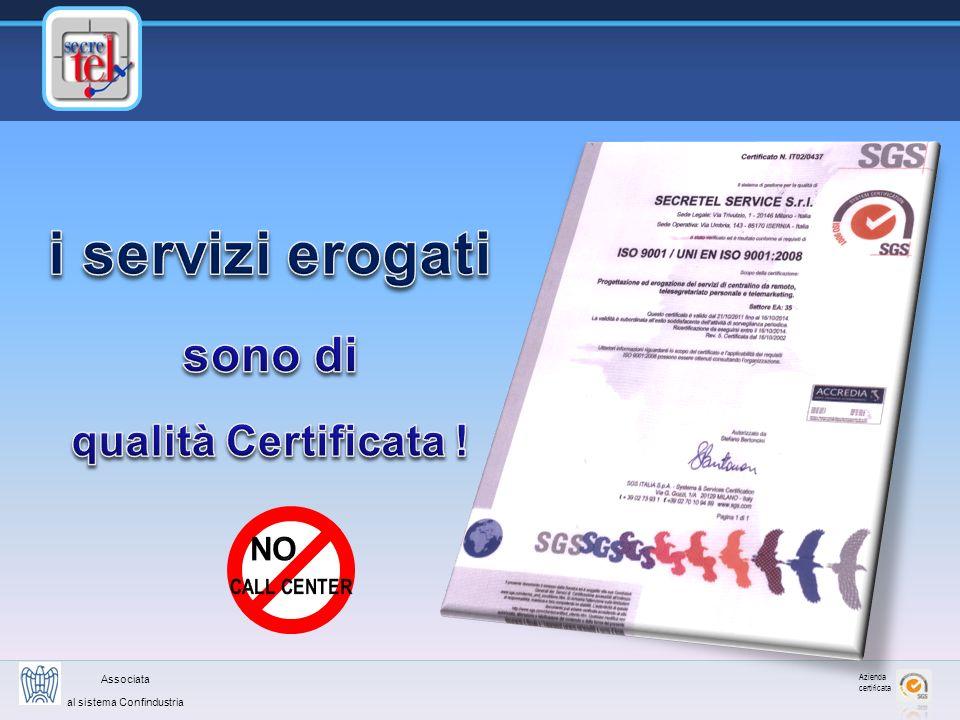 Azienda certificata Associata al sistema Confindustria