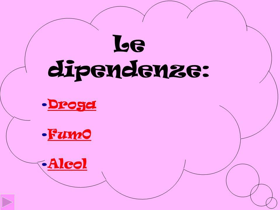 Le dipendenze: Droga Fum0 Alcol