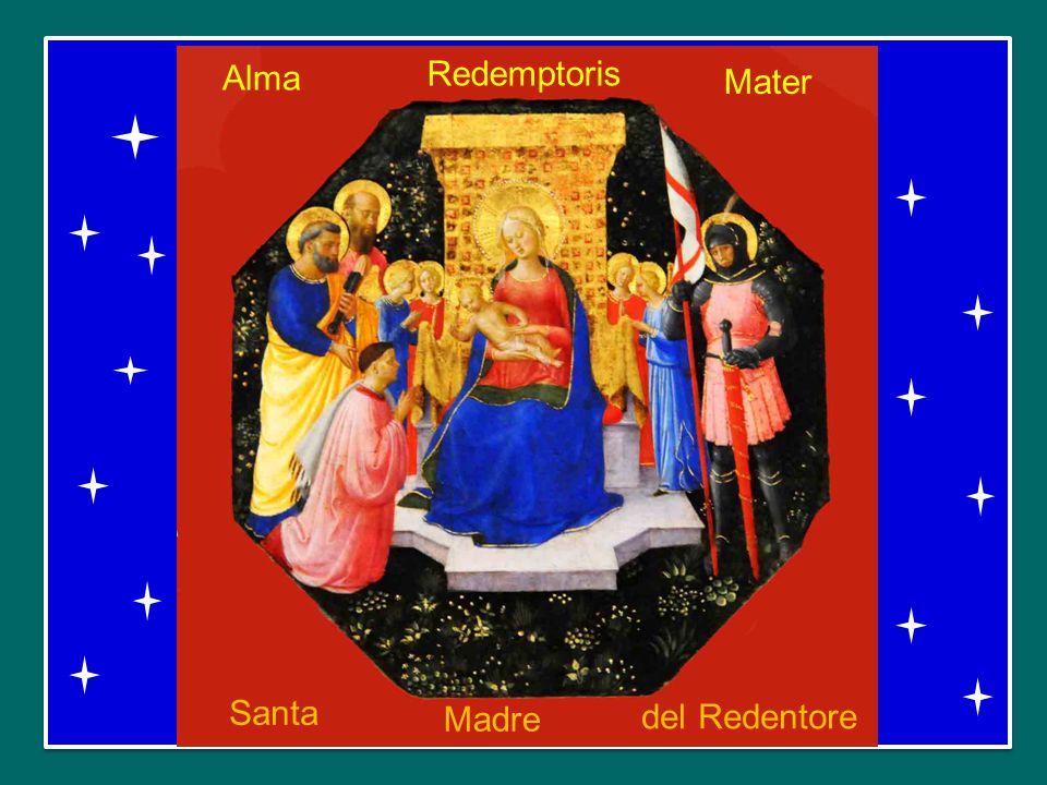 Tu quae genuisti, natura mirante, tuum sanctum Genitorem Tu che hai generato il tuo Creatore nello stupore di tutto il creato Virgo prius ac posterius