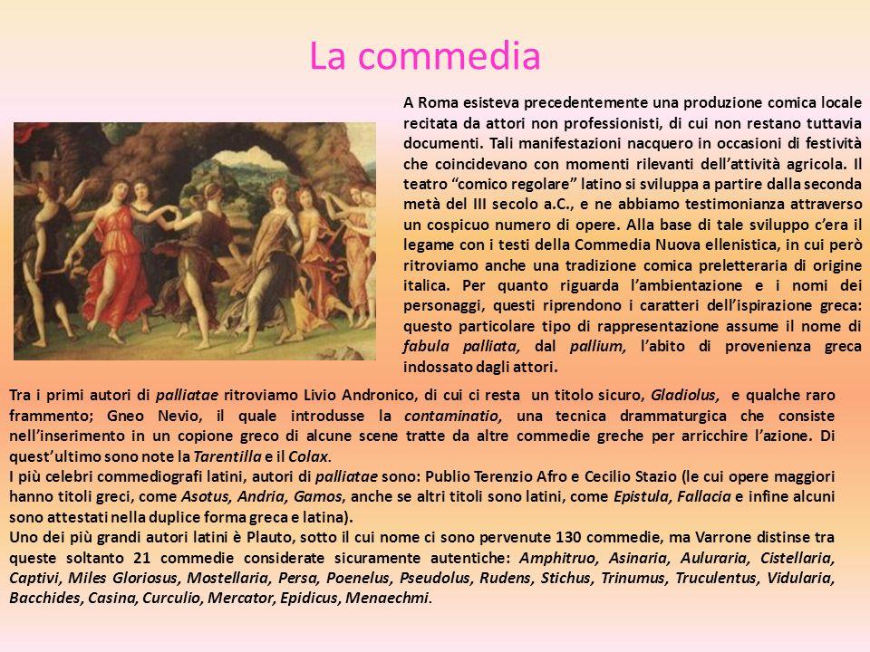 La commedia A Roma esisteva precedentemente una produzione comica locale recitata da attori non professionisti, di cui non restano tuttavia documenti.