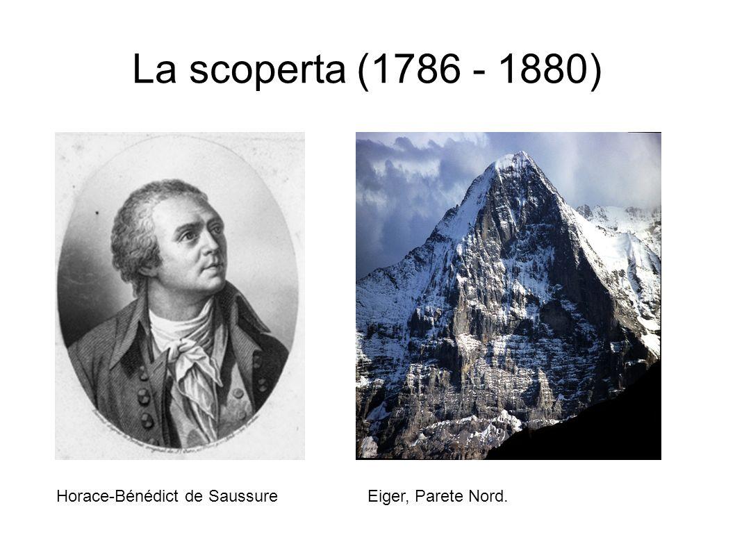 La scoperta (1786 - 1880) Horace-Bénédict de SaussureEiger, Parete Nord.