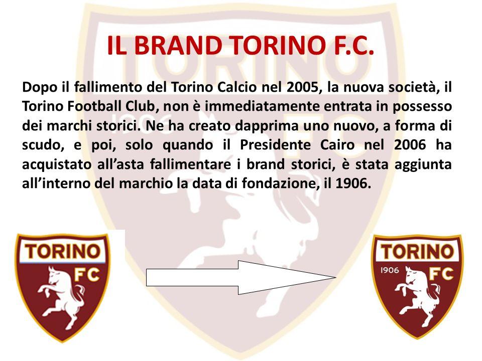 IL BRAND TORINO F.C. Dopo il fallimento del Torino Calcio nel 2005, la nuova società, il Torino Football Club, non è immediatamente entrata in possess