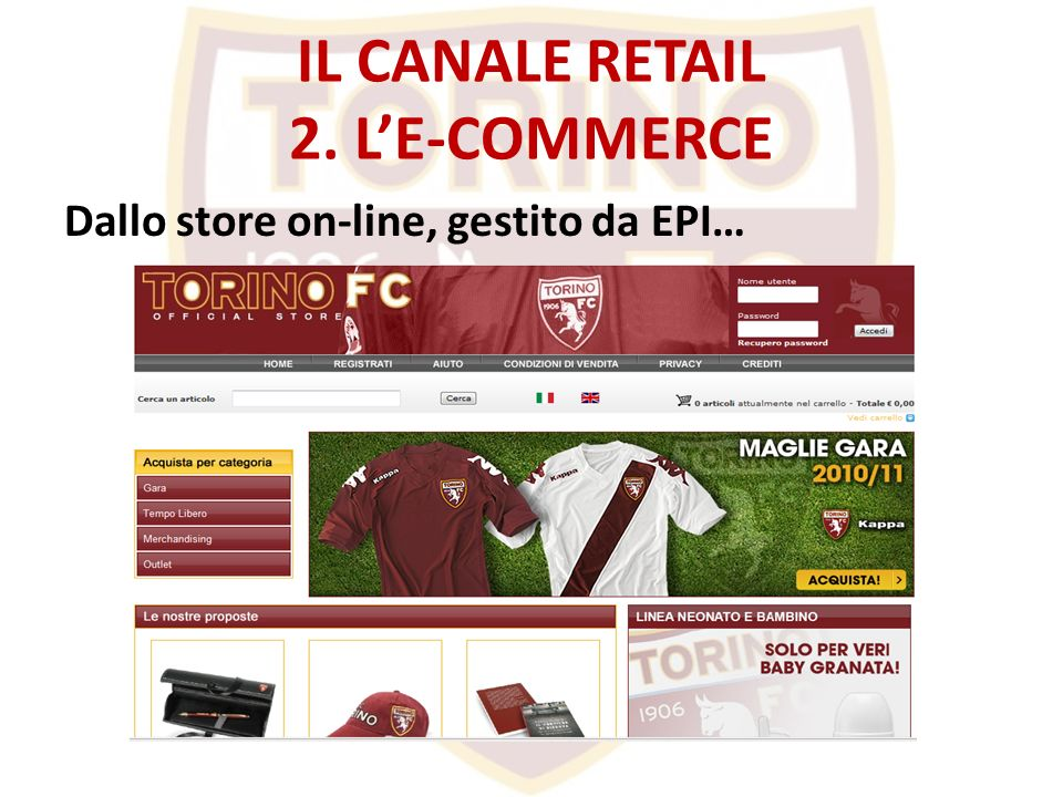 IL CANALE RETAIL 2. LE-COMMERCE Dallo store on-line, gestito da EPI…