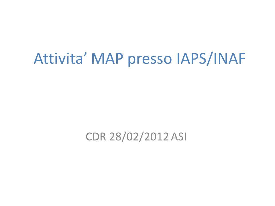 Attivita MAP presso IAPS/INAF CDR 28/02/2012 ASI