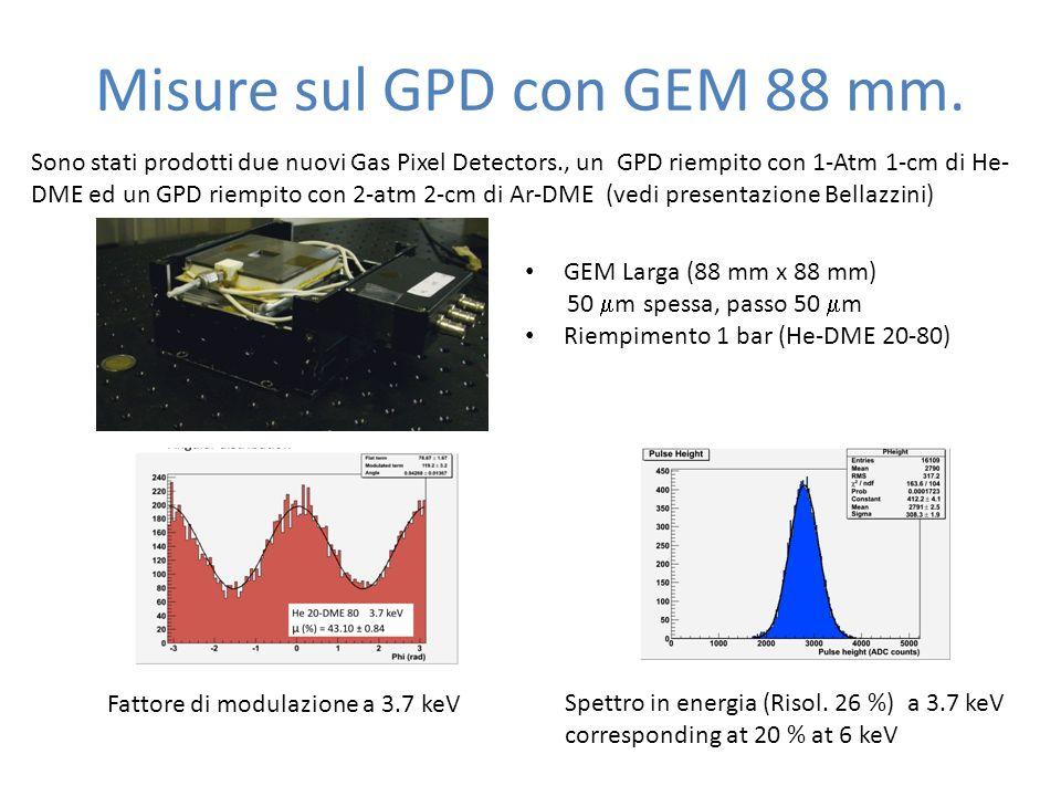 Misure sul GPD con GEM 88 mm.