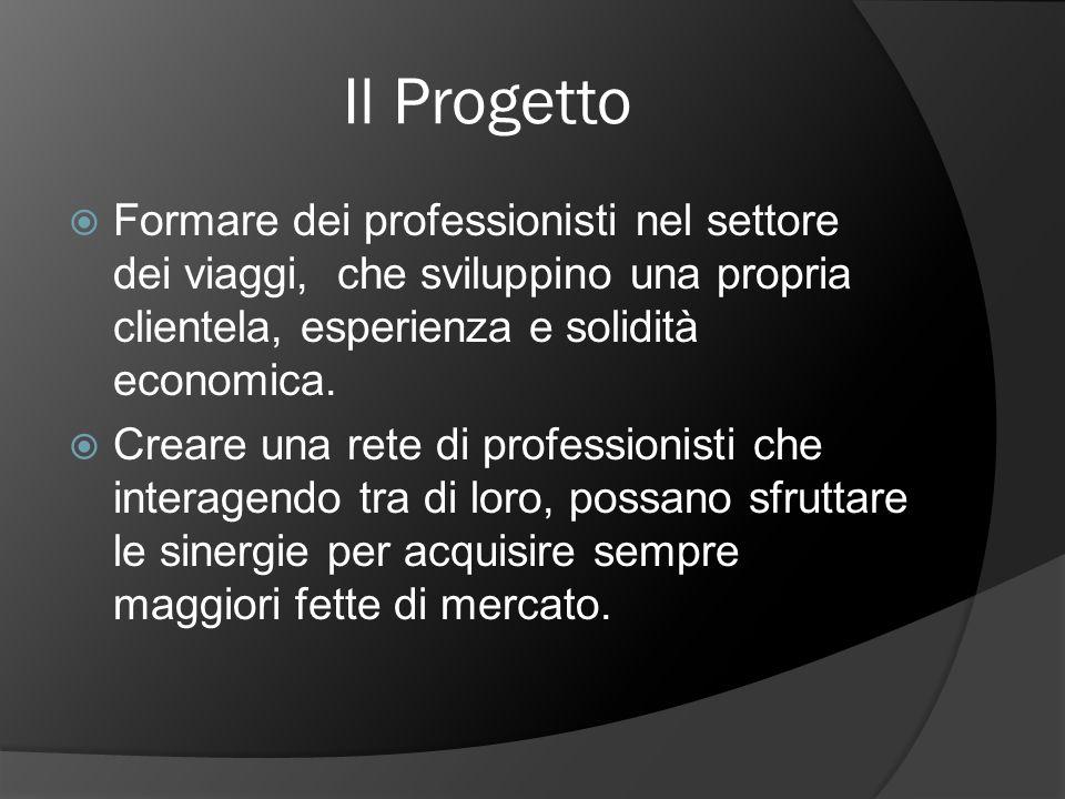 Il Progetto Formare dei professionisti nel settore dei viaggi, che sviluppino una propria clientela, esperienza e solidità economica.
