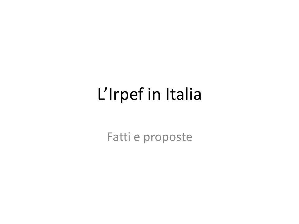 LIrpef in Italia Fatti e proposte