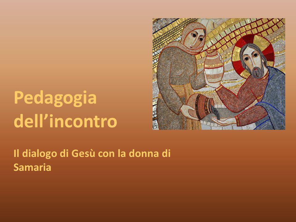 Pedagogia dellincontro Il dialogo di Gesù con la donna di Samaria
