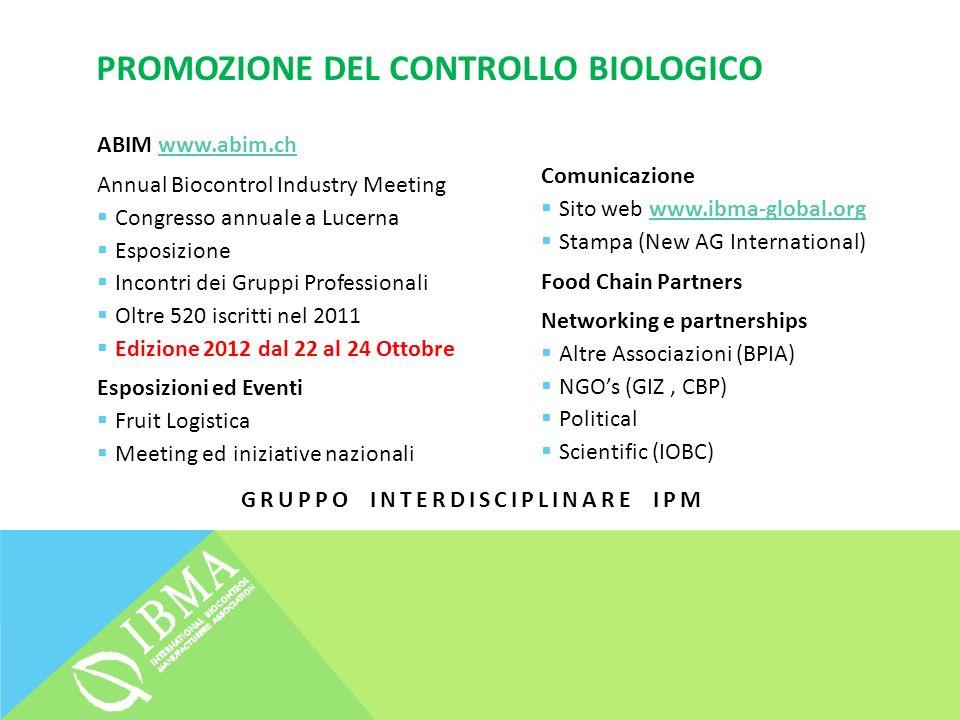 PROMOZIONE DEL CONTROLLO BIOLOGICO