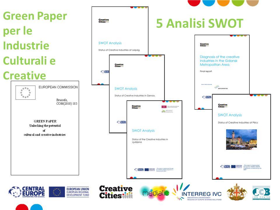 5 Analisi SWOT Green Paper per le Industrie Culturali e Creative