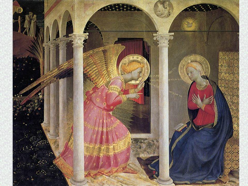 Vediamo alcuni particolari… Maria ha le MANI sul cuore in segno di accettazione della volontà di Dio.