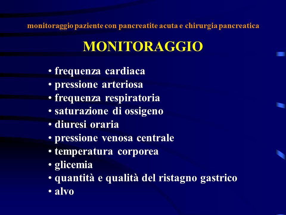 MONITORAGGIO frequenza cardiaca pressione arteriosa frequenza respiratoria saturazione di ossigeno diuresi oraria pressione venosa centrale temperatur