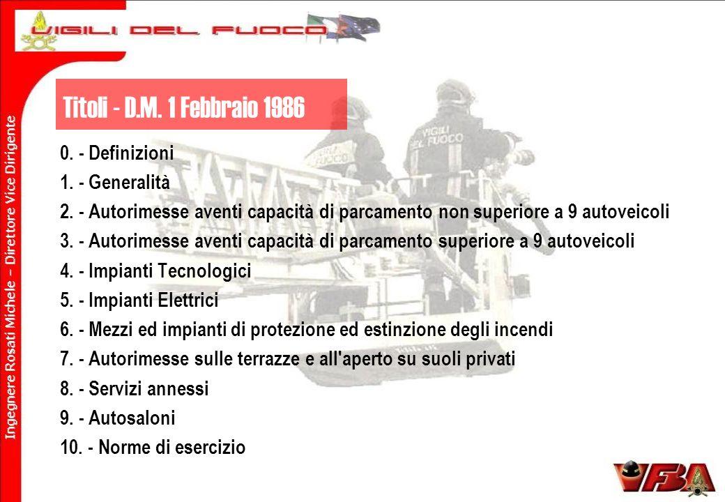 Titoli - D.M.1 Febbraio 1986 0. - Definizioni 1. - Generalità 2.