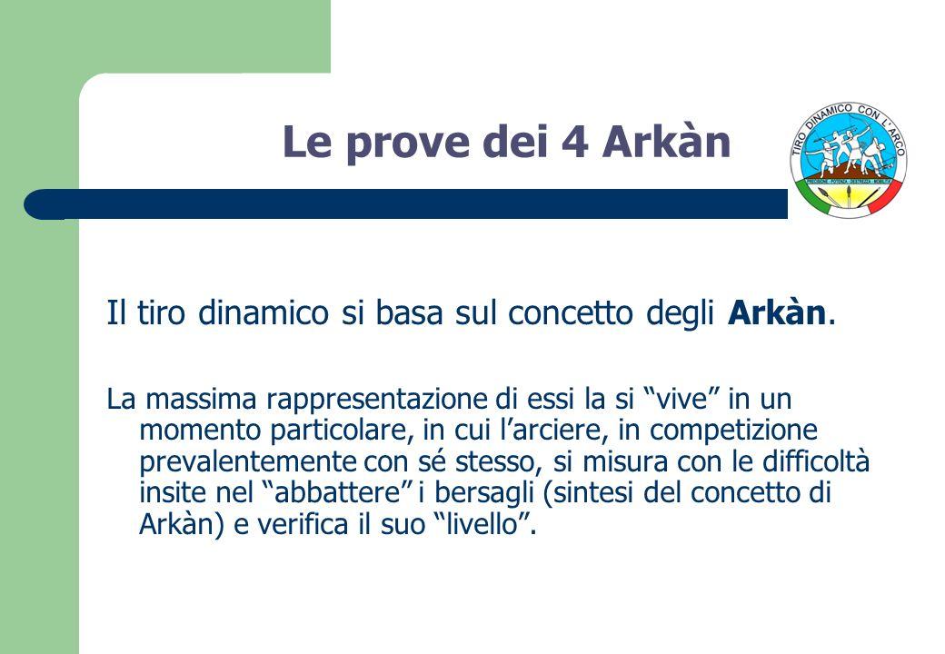 Le prove dei 4 Arkàn Il tiro dinamico si basa sul concetto degli Arkàn. La massima rappresentazione di essi la si vive in un momento particolare, in c