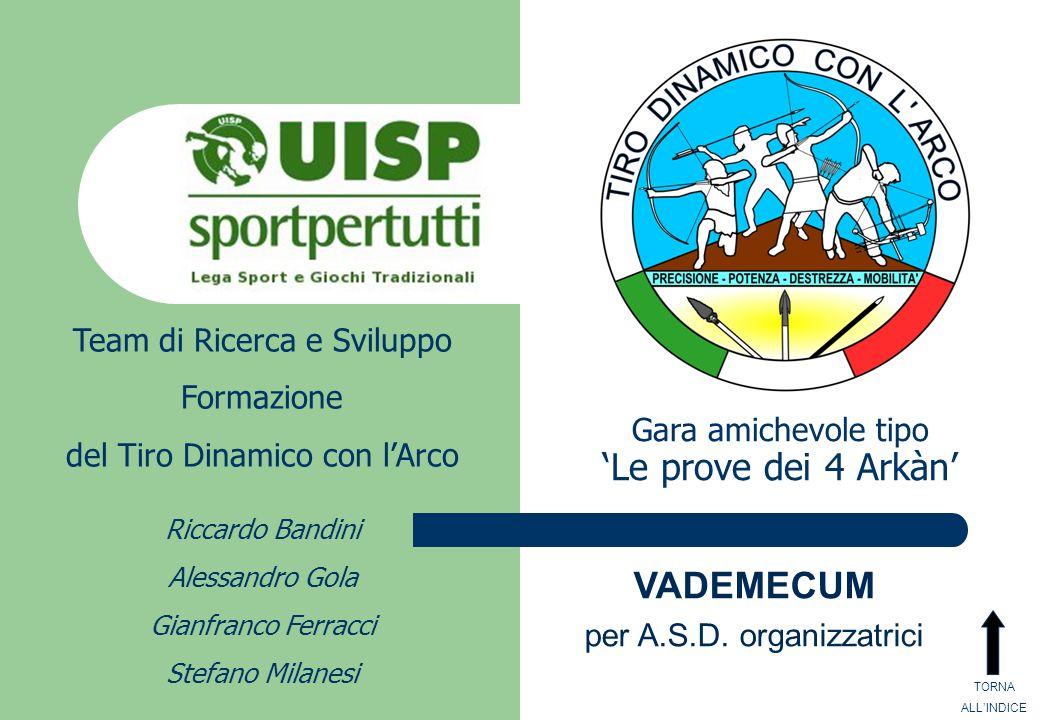 Team di Ricerca e Sviluppo Formazione del Tiro Dinamico con lArco Riccardo Bandini Alessandro Gola Gianfranco Ferracci Stefano Milanesi Gara amichevol