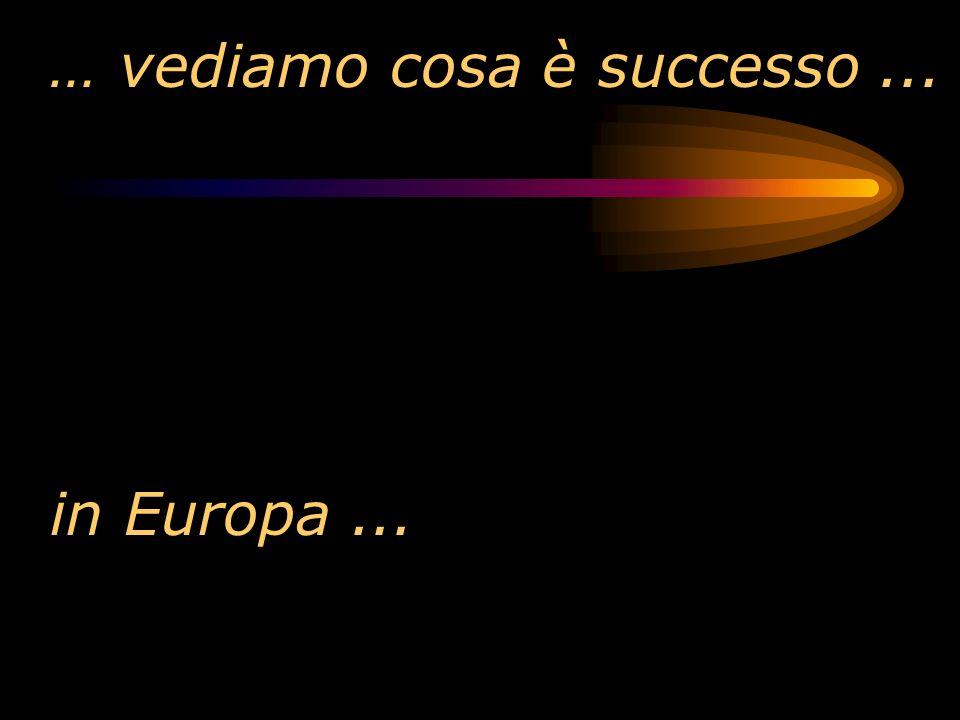 … vediamo cosa è successo... in Europa...