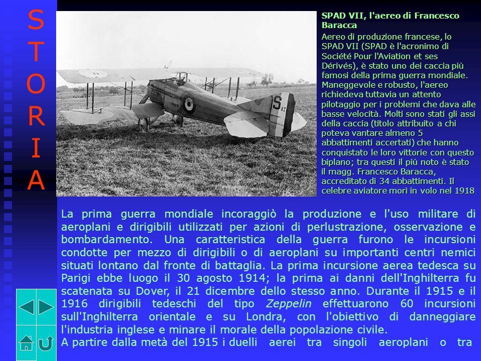 SPAD VII, l'aereo di Francesco Baracca Aereo di produzione francese, lo SPAD VII (SPAD è l'acronimo di Société Pour l'Aviation et ses Dérivés), è stat