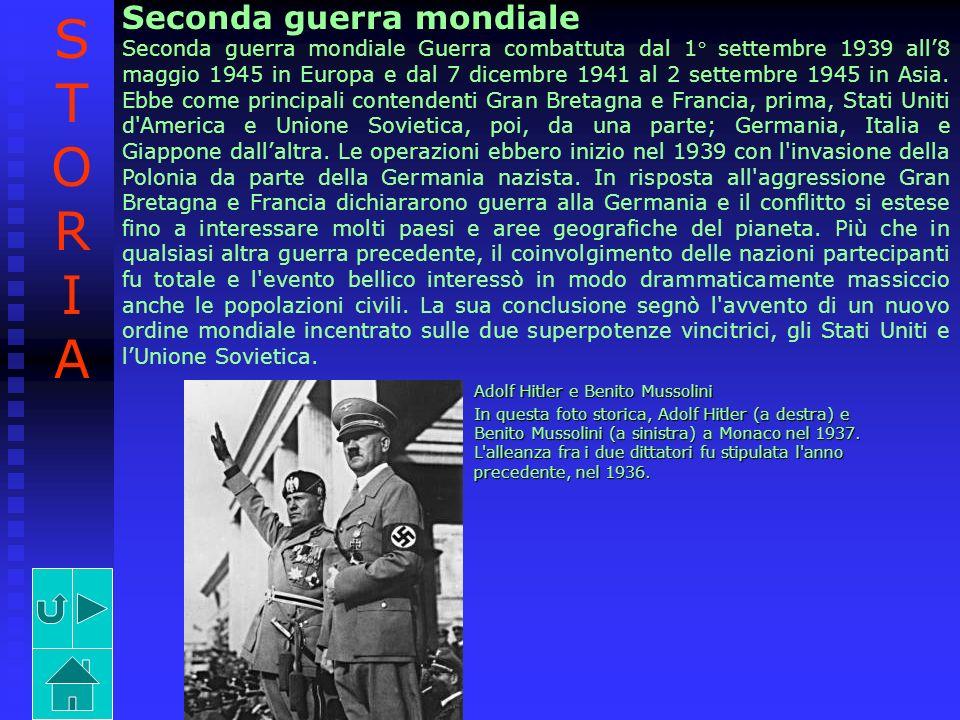 Seconda guerra mondiale Seconda guerra mondiale Guerra combattuta dal 1° settembre 1939 all8 maggio 1945 in Europa e dal 7 dicembre 1941 al 2 settembr