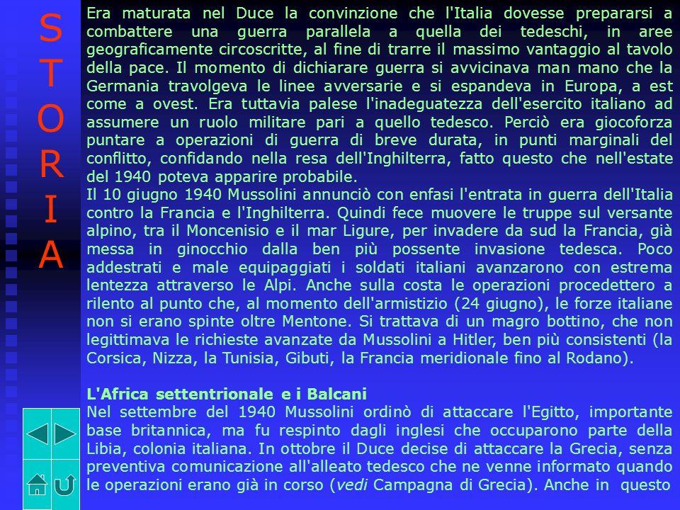 Era maturata nel Duce la convinzione che l'Italia dovesse prepararsi a combattere una guerra parallela a quella dei tedeschi, in aree geograficamente