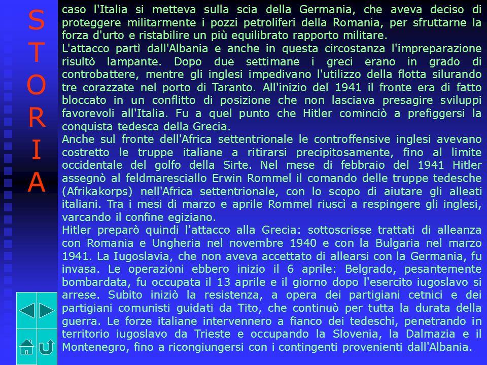 caso l'Italia si metteva sulla scia della Germania, che aveva deciso di proteggere militarmente i pozzi petroliferi della Romania, per sfruttarne la f