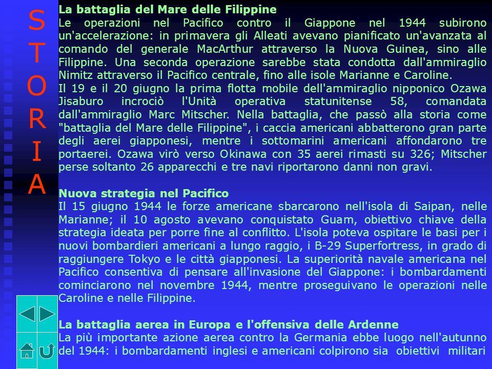 La battaglia del Mare delle Filippine Le operazioni nel Pacifico contro il Giappone nel 1944 subirono un'accelerazione: in primavera gli Alleati aveva