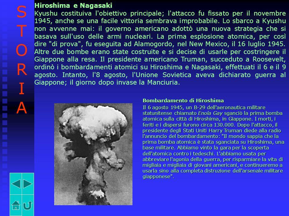Hiroshima e Nagasaki Kyushu costituiva l'obiettivo principale; l'attacco fu fissato per il novembre 1945, anche se una facile vittoria sembrava improb