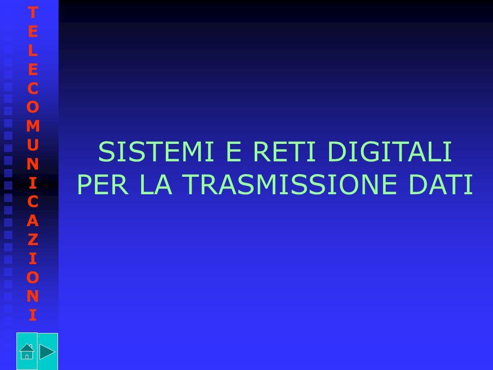 SISTEMI E RETI DIGITALI PER LA TRASMISSIONE DATI TELECOMUNICAZIONITELECOMUNICAZIONI