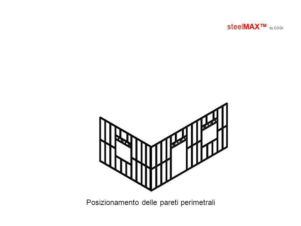 MAX steelMAX by COGI Posizionamento delle pareti perimetrali