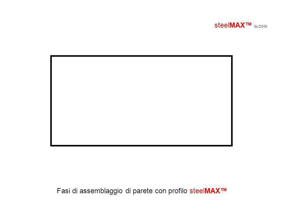 MAX Fasi di assemblaggio di parete con profilo steelMAX