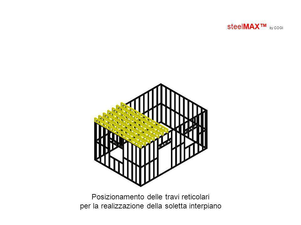 MAX steelMAX by COGI Posizionamento delle travi reticolari per la realizzazione della soletta interpiano