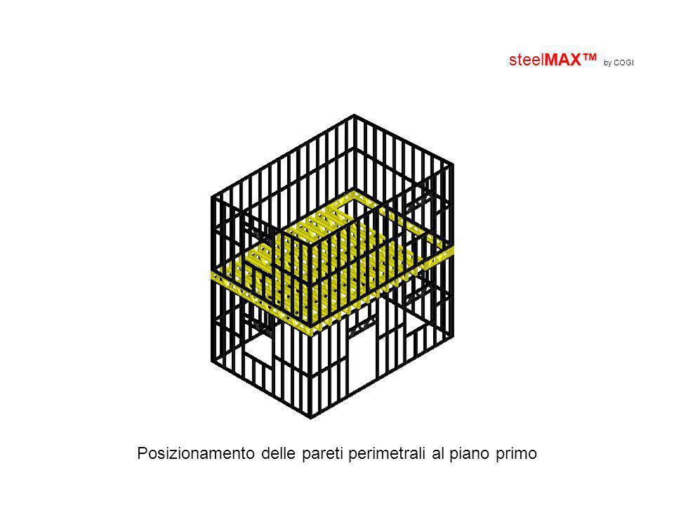MAX steelMAX by COGI Posizionamento delle pareti perimetrali al piano primo