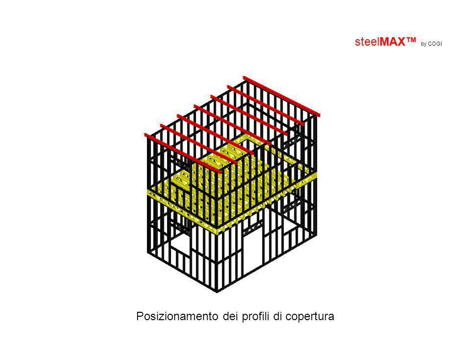 MAX steelMAX by COGI Posizionamento dei profili di copertura