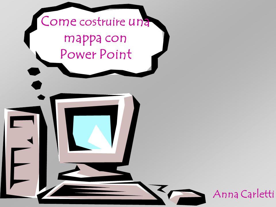 Come costruire una mappa con Power Point Anna Carletti