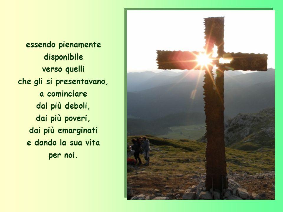 Gesù non ci ha amati con dei bei discorsi, ma è passato in mezzo a noi facendo del bene, sanando tutti,