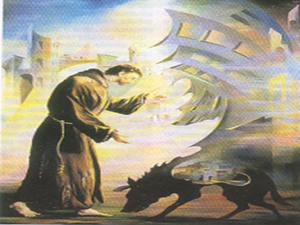 Allodio e allegoismo, allavidità e alla cupidigia, al potere e allorgoglio, al godimento e al piacere, allambizione e alla corruzione, alla violenza e al denaro, rispose vivendo la fraternità e lumiltà, la povertà e il distacco, la gioia e il servizio, il perdono e la pace, la cortesia e la bontà la fede e la preghiera.